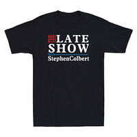 The Late Show With Stephen Men's Cotton Short Sleeve Tee Funny Gift T-Shirt