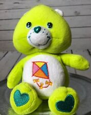 "Care Bear Plush Green Kite New DO YOUR BEST BEAR 8"" tall Beanbag Baby Girl Boy"