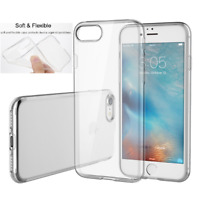 For iPhone 8 Transparent Crystal Clear Case Gel TPU Soft Cover Skin Silicone
