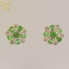 Smaragd Diamant Ohrstecker 0,48ct 333 8K Gold Gelbgold Ohrschmuck Ohr Schmuck