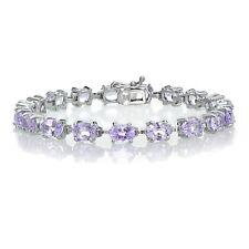 Sterlilng Silver 12ct TGW Amethyst Tennis Bracelet