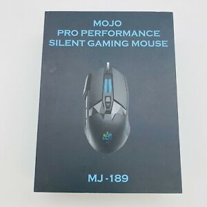 MOJO Pro Performance MJ-189 Wired Gaming Mouse Customizable Silent Buttons