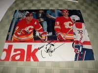 "Tim Hunter Calgary Flames Signed 11"" x 14"" Hockey Photo W/COA"