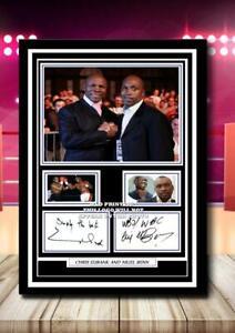 (46) nigel benn & chris eubank boxing legends  signed photograph unframed/framed