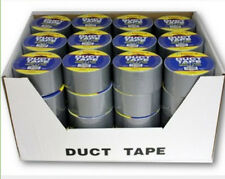 "Bulk Lot of 48 Rolls - Tape-It Silver Duct Tape 1.89"" x 10 Yards - DISPLAY BOX"