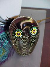 Murano Italian Art Glass Owl Paperweight Figure Galliano Ferro Millefiore MidCnt