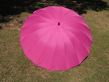 Beetroot Fuchsia Wedding Umbrella 16 Panel Classic Design 60 Inch FREE SHIPPING
