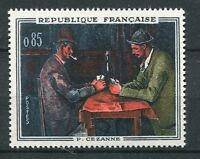FRANCE 1961, timbre 1321, TABLEAU CEZANNE, JOUEURS CARTES neuf**, MNH PAINTING