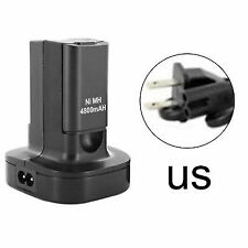 2 X 4800mah Rechargeable Battery Pack 2x Charger Charge Cable for Microsoft Xbox 360 Xbox360 Controller