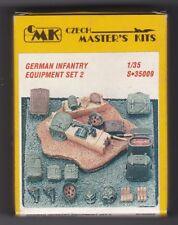 CMK CZECH MASTER'S KITS S-35009 - GERMAN INFANTRY EQUIPMENT SET 2 1/35 RESIN KIT