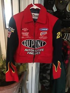 NASCAR girls Chase Authentic's Racing Crew Jacket Dupont #24 Jeff Gordon - Small