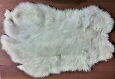 "One 2 oz. Off-White Rabbit Pelt, Sizes Range From 11.75-14"" T x 17.25-19.00"" W"
