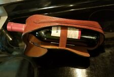 Cuoieria Fiorentina leather bottle rack