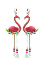 Michal Negrin Shiny Flamingo Earrings Swarovski #100174831001