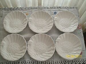 "Six New Pottery Barn Turkey Profile Thanksgiving 7"" Salad/Desserts Plates"