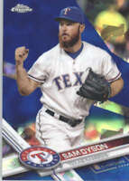 SAM DYSON 2017 TOPPS CHROME SAPPHIRE EDITION #620 ONLY 250 MADE