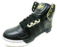 Adidas Conductor AR G99951 Mens Shoes Basketball Black Leather Sneakers Retro