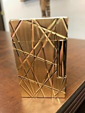 S.T. Dupont L2 Fire Lines Lighter, Gold 016265 Brand New 2018 Model