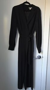 H & M ONE PIECE BLACK JUMPSUIT SIZE 8 LIKE NEW