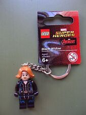 Lego Minifig ~ Black Widow ~ Avenger Super Heroes Promo Key Chain ~ w/tags DC
