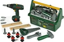 Kids Tool Box Toy Set Cordless drill Bosch Sturdy Tools and Case Pretend Play