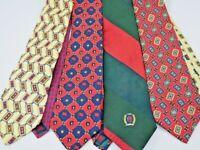 Lot of 4 Tommy Hilfiger Men's Ties Neckties Striped Geometric