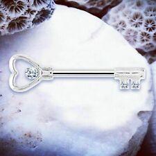 Alba Key Nipple Bars Silver Nipple Bar Crystal Nipple Piercing Rings Ring Shield
