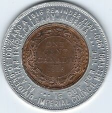 CANADA Alberta Al Azhar 1916 Encased Large Cent With Lustre Inv 3127