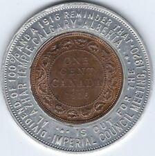 CANADA Alberta Al Azhar 1916 Encased Large Cent With Lustre Inv