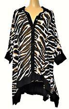 TS top TAKING SHAPE OSFA plus size Animal Instinct Shirt semi-sheer NWT rrp$150!