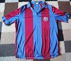 BARCELONA FC Vintage Home SHIRT 1980's (Large) Rare Unbranded CHILDS