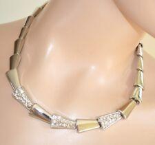 COLLAR mujer plata strass gargantilla elegante bisutería ceremonia necklace 255
