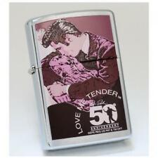 Vintage Retired Unstruck Zippo - Elvis Love Me Tender