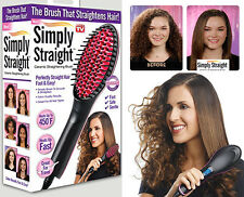 Simply Straight Electric Hair Brush Straightener New Ceramic Straightening Brush