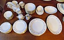 61 Pc Noritake LONGWOOD Porcelain China 8 Seven Pc Settings + Serving Pieces