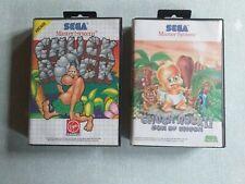 Lot Jeux Sega Master System / Chuck Rock 1 Et 2
