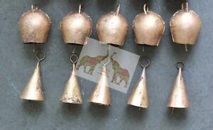Tin Metal Bells Decorative Home Decor Bronze Vintage Collectibles Bell 10 Pcs
