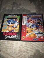 Sonic the Hedgehog (Sega Genesis, 1991) Case Manual+spinball Blockbuster Video