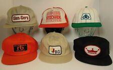 Vintage Trucker Hat Lot of 6 1980s Farm Patch Snapback Trucker Hats MADE IN USA