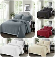 New Comforter Bed Set Embossed Quilted Osca  Bedspread Throw Double King Size