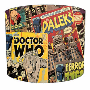Doctor Who Lampshades Ideal To Match Doctor Who Wallpaper & Dr Who Quilt Covers.