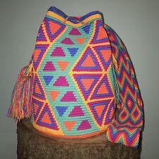 Authentic 100% Wayuu Mochila Colombian Bag Large Beautiful Free US Shipping