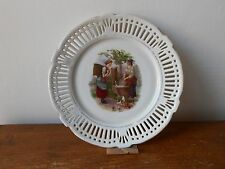 Ancienne assiette ajourée porcelaine SCHWARZENHAMMER  Porzellan.Antique plate.