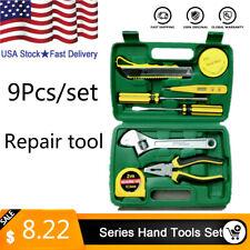Universal Household Hand Tools Set 9pcs Combination Repairing Tool Set Us Stock