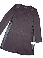 BEBE black Winter JACKET Pea coat LONG LARGE  L