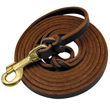 Leather Training Dog Leash Braided Walking Leather Lead for German Shepherd