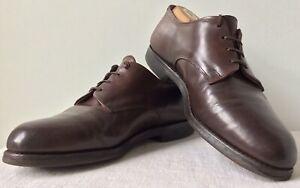 Allen Edmonds Comfort Orthotic Brown Leather Plain Toe Derby Vibram Sole US 9.5E