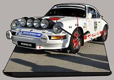 MODEL CARS, PORSCHE 911 CARRERA -04, car passenger,11,8x 7,8 inches  with Clock