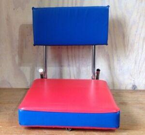 Vintage KR Industries Blue Red Padded Folding Stadium Bleacher Seat Chair