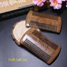 BEST Wooden Green SandalWood Scent Natural Hair and Beard Comb - Double Sided